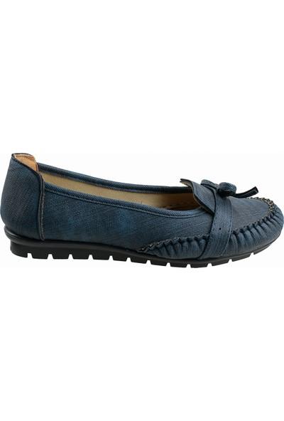 Annamaria V-09 Günlük Yürüyüş Kot Kadın Babet Ayakkabı