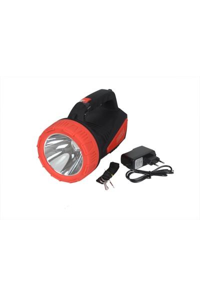 Atasbey PS-2222 Uzun Menzilli 10W LED Şarlı El Feneri Projektör