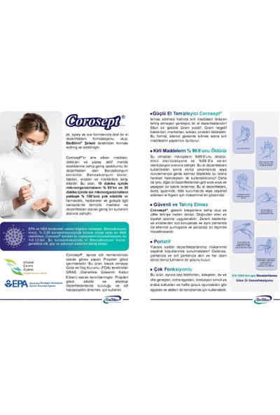 Biobilim Corosept® Jel El Dezenfektanı 1000 ml x 10 Adet