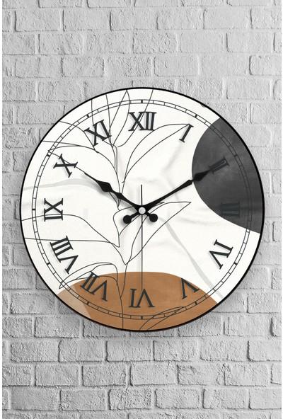 Muyika Arte Oval Gerçek Cam 36 cm Duvar Saati