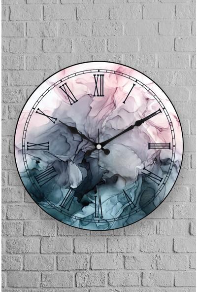 Muyika Rizato Oval Gerçek Cam 36 cm Duvar Saati
