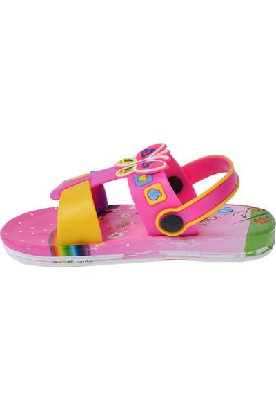 Kiko Akn E240.012 Plaj Havuz Kız Çocuk Sandalet Fuşya