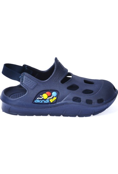 Kiko Akn E401.000 Plaj Havuz Banyo Kız-Erkek Çocuk Sandalet Lacivert