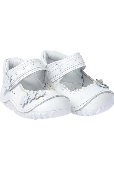 Kiko Kids Teo 119 %100 Deri Orto Pedik Cırtlı Kız Çocuk Ayakkabı