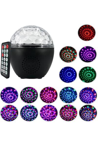 Buyfun 10 W USB Şarj Edilebilir Disko Topu Strobe Işık Ses (Yurt Dışından)