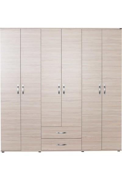 Adore Dinamik Genç Odası 6 Kapı Iki Çekmeceli Gardrop GRD-462-ZR-4 Zara