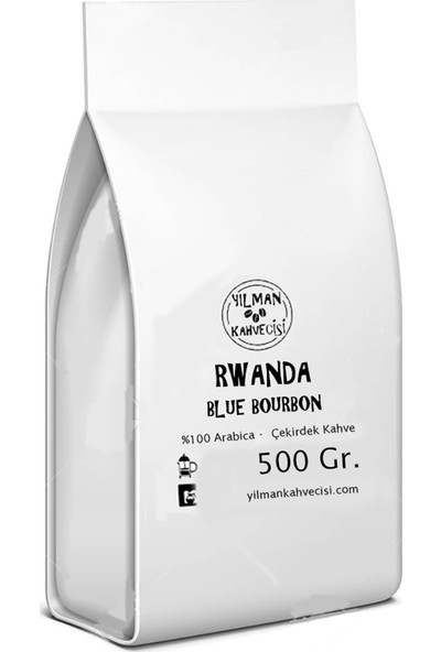 Yılman Kahvecisi Rwanda Blue Bourbon %100 Arabica Filtre Kahve Taze Kavrulmuş Çekirdek 500 Gr.