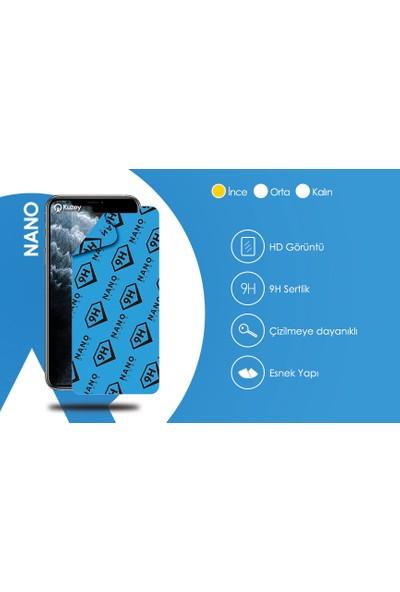 KZY Samsung Galaxy A21s Tıpalı Kamera Korumalı Şeffaf Premier Kılıf + Nano Esnek Cam