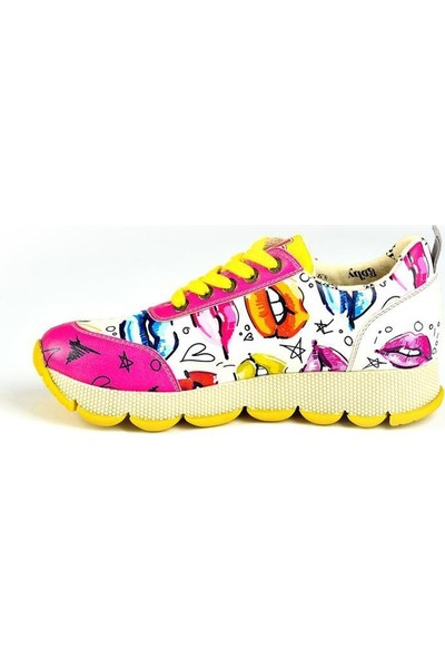 Goby Sps 105 Pembe Bağcıklı Kadın Spor Ayakkabı