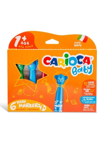 Carioca Teddy Jumbo Bebek Süper Yıkanabilir Keçeli Boya Kalemi 6'lı