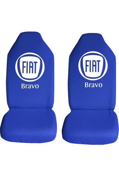 Öztoptan Fiat Bravo Özel Araba Oto Koltuk Kılıfı Ön Koltuklar Mavi