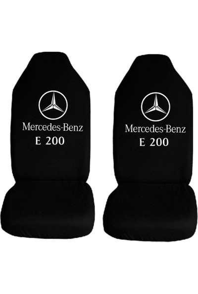 Öztoptan Mercedes-Benz E200 Özel Araba Oto Koltuk Kılıfı Ön Koltukl Siyah