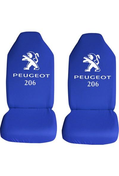 Öztoptan Peugeot 206 Özel Araba Oto Koltuk Kılıfı Ön Arka Takım Mavi