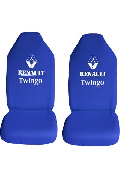 Öztoptan Renault Twingo Özel Araba Oto Koltuk Kılıfı Ön Koltuklar Mavi