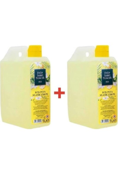 Eyüp Sabri Tuncer Limon Kolonya 1 Litre 2 Adet 80 Derece