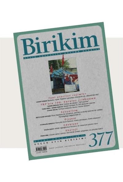 Birikim Sayı 377 - Eylül