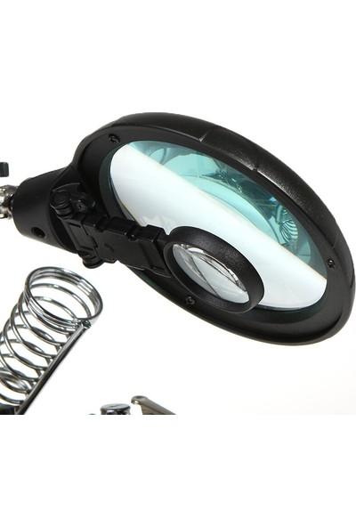 Valkyrie 5 LED 3 Farklı Mercek Çok Fonksiyonlu Lehim Tamir Standı Büyüteç