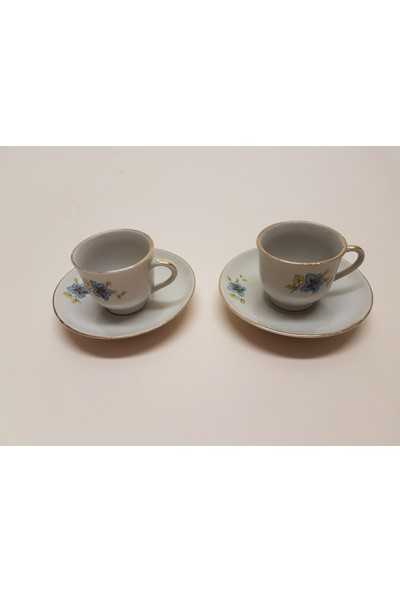 Begüldan Eski Istanbul Porselen Çift Kahve Fincanı