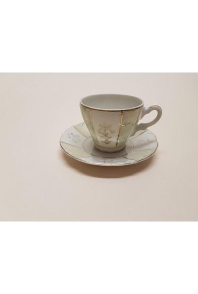 Begüldan Eski Porselen Tek Kahve Fincanı