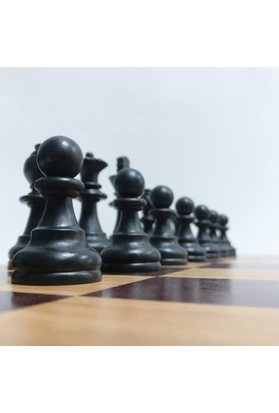 Yeni Satranç Ahşap Zeminli Profesyonel Satranç Takımı