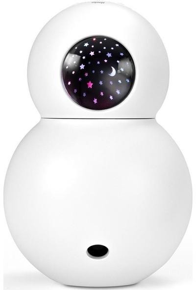 Alecto Baby Bc-21 Gece Lambası Projektörü Hava Nemlendirici Buhar Makinesi Ultrasonik Aroma Difüzörü