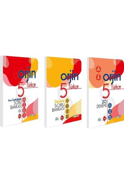 Gama 5. Sınıf Orjin Türkçe Konu Özetli + Soru Bankası + Deneme Seti 3 Kitap 2021