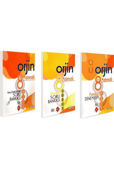 Gama 8. Sınıf Orjin Matematik Konu Özetli + Soru Bankası + Deneme Seti 3 Kitap