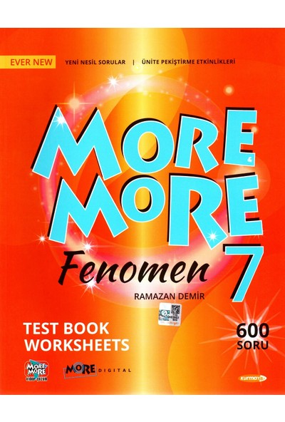 Kurmay Elt More More7. Sınıf Fenomen English Test Book 2020 2021