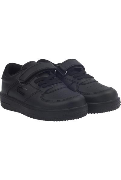 Kiko Ats Günlük Cırtlı Kız-Erkek Çocuk Spor Ayakkabı Siyah