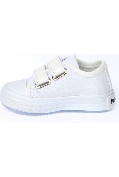 Kiko Pnd 201C150 Keten Işıklı Kız-Erkek Çocuk Ayakkabı Beyaz