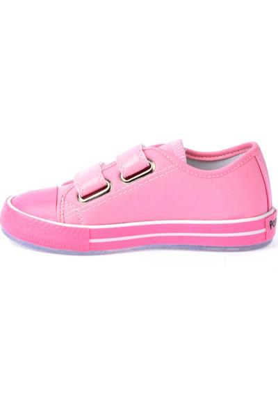 Kiko Pnd 201C150 Keten Işıklı Kız-Erkek Çocuk Ayakkabı Pembe