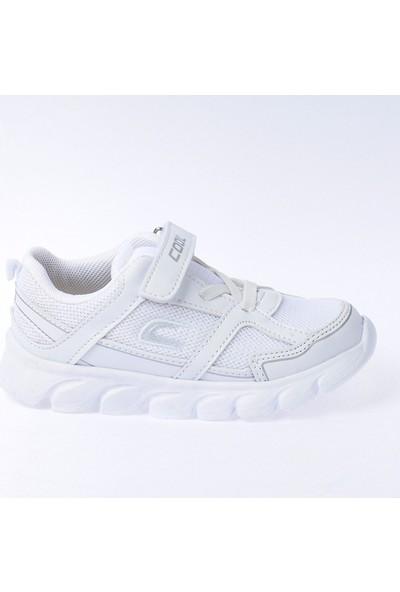 Kiko S03 Günlük Fileli Cırtlı Kız-Erkek Çocuk Spor Ayakkabı Beyaz