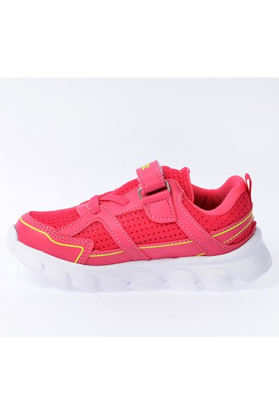 Kiko S03 Günlük Fileli Cırtlı Kız-Erkek Çocuk Spor Ayakkabı Fuşya