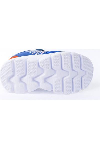 Kiko S12 Günlük Fileli Cırtlı Kız-Erkek Çocuk Spor Ayakkabı Saks