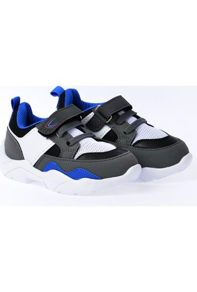 Kiko S19 Günlük Fileli Cırtlı Kız-Erkek Çocuk Spor Ayakkabı Saks