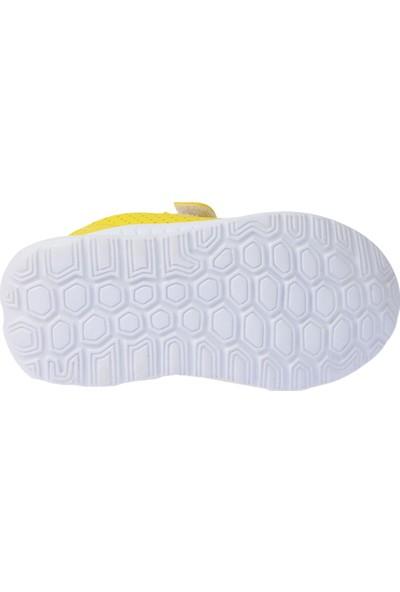 Kiko S20 Günlük Fileli Cırtlı Kız-Erkek Çocuk Spor Ayakkabı Sarı