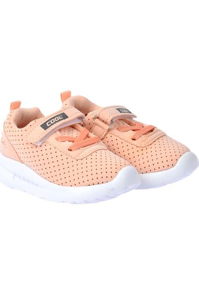 Kiko S20 Günlük Fileli Cırtlı Kız-Erkek Çocuk Spor Ayakkabı Somon