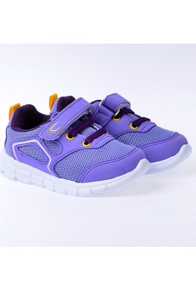 Kiko S27 Günlük Fileli Cırtlı Kız-Erkek Çocuk Spor Ayakkabı Lila