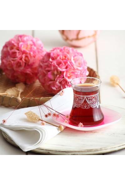 Lav Tatlı Hatıralar Turuncu 12'li Çay Seti