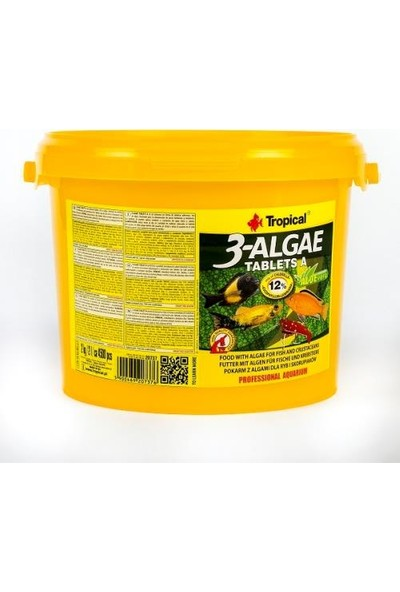 Tropical 3 Algea A Tablet Açık 150 ml 100'LÜ