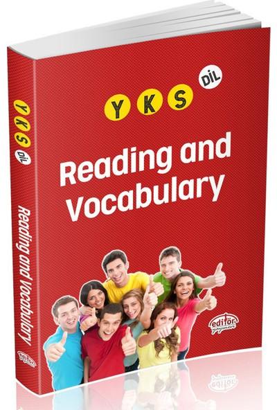 Editör Yayınları Yks Reading And Vocabulary