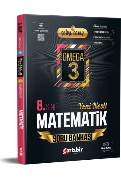 Artıbir Yayınları 8.sınıf Çetin Ceviz Matematik Soru Bankası