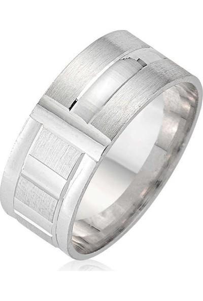 Armagano Gümüş Rodyumlu Alyans