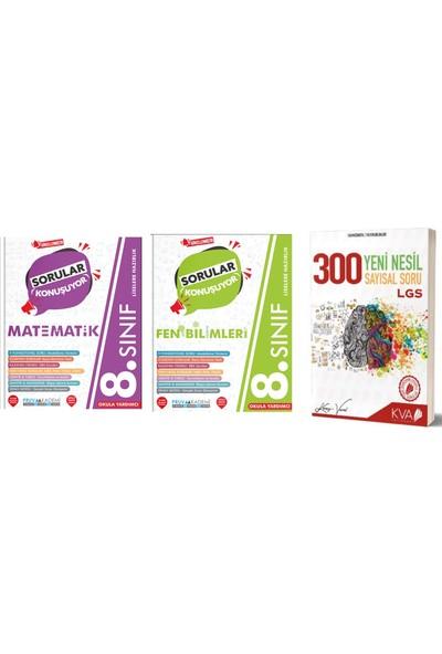 Pruvakademi Yayınları 8.Sınıf Matematik Fen Soru Bankası ve Koray Varol Yayınları Sayısal 300 Soru