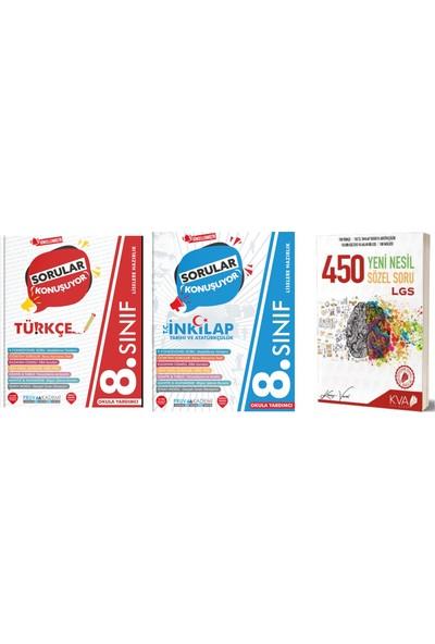 Pruvakademi Yayınları 8.Sınıf Türkçe T.c. Inkılap Tarihi ve Atatürkçülük Soru Bankası ve Yeni Nesil 450 Soru Bankası