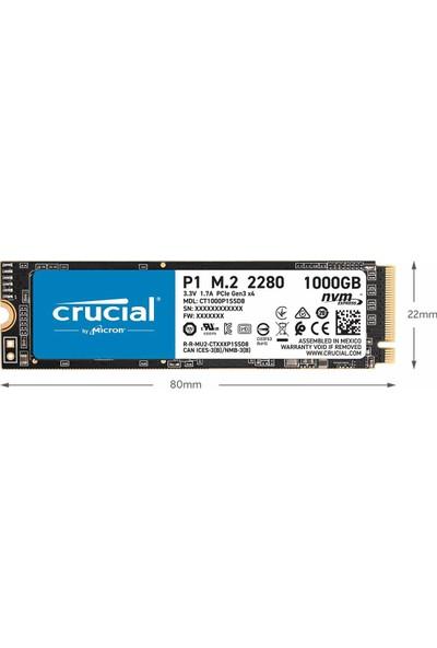 Crucial P1 M.2 Pcı-Express 3.0 SSD (Yurt Dışından)