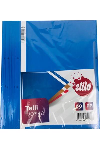 Stilo Mavi Telli Dosya 50 Adet 0089