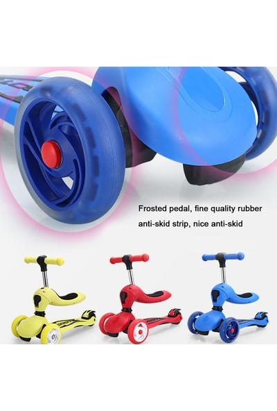 Buyfun 4 Tekerlekli Oturan Çocuk Scooter 1-2-6-8 Yaşında