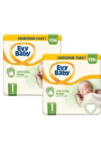Evy Baby Yenidoğan Bebek Bezi 1 Beden 108'LI Yeni Paket