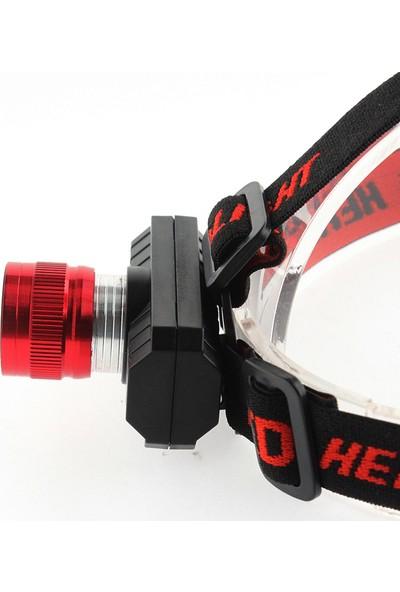 Panther Zoomlu Şarjlı Kafa Lambası Cob LED Feneri PT-5920